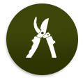 Pruning Tool Icon, landscaping, shrub pruning, reseed, irrigation, queens, ny